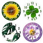 인테리어 식물 벽걸이시계